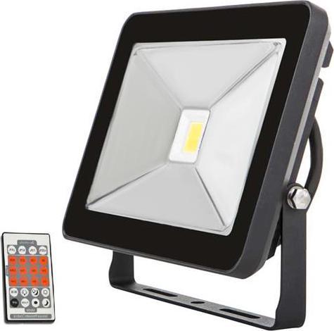 Schwarz LED Fluter mit Bewegungsmelder 50W SLIM Tageslicht