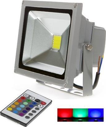 Siberner RGB LED Strahler 20W mit IR entfernten bedienungem