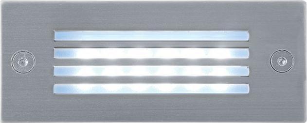 Eingebaute Außenleuchte LED mit Gitter 45 x 110mm Kaltweiß