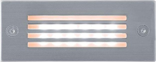Eingebaute Außenleuchte LED mit Gitter 45 x 110mm Warmweiß