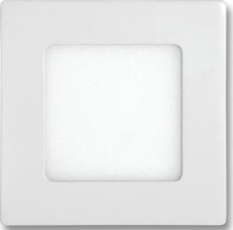 Weißes LED Einbaupanel 120 x 120mm 6W Kaltweiß dimmbar