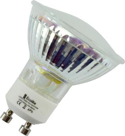 LED žiarovka GU10 1W 3SMD denná biela