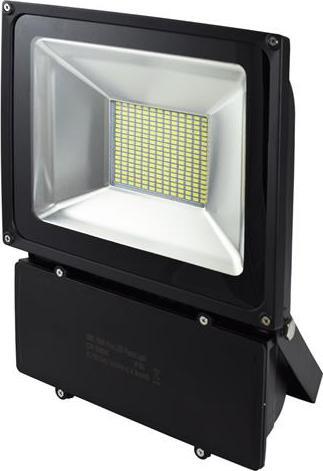 Schwarz LED Fluter 100W SMD Kaltweiß