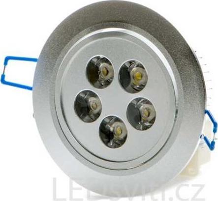 LED bodové svietidlo 5x 1W studená biela