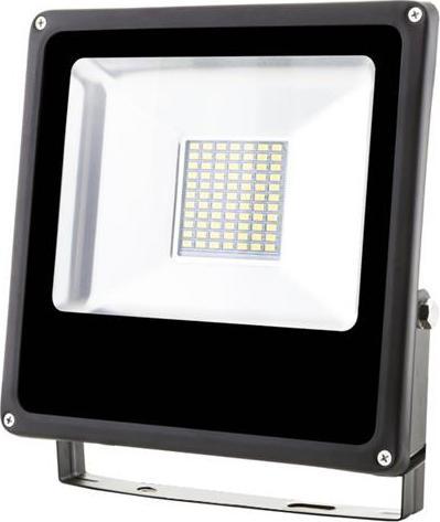 Schwarz LED Fluter 30W SMD Kaltweiß