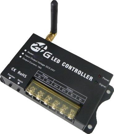 LED Dimmer mit Fernbedienung 24V 16A max.384W