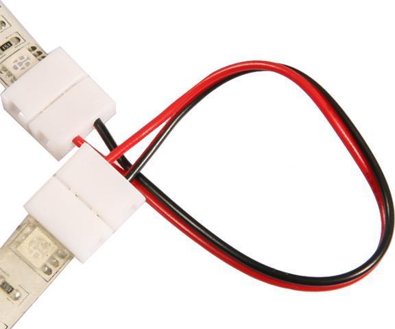 Steckverbinder + Kabel + Steckverbinder für LED Streifen 10mm
