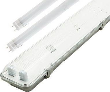 LED Feuchtraumleuchte 150cm + 2x LED Leuchtstoffröhre Tageslicht 4800 lm
