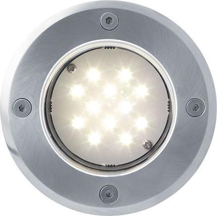 Bodeneinbaustrahler boden LED lampe 230V 1W 12LED Warmweiß