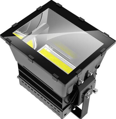 Schwarz LED Industrienstrahler 1000W Tageslicht