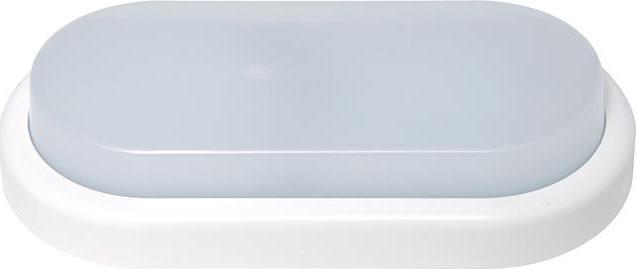 Weiße oval LED Wandleuchte 18W Tageslicht