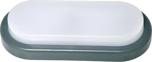 Grau oval LED Wandleuchte 12W Tageslicht