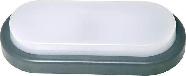 Grau oval LED Einbauleuchte 18W Tageslicht