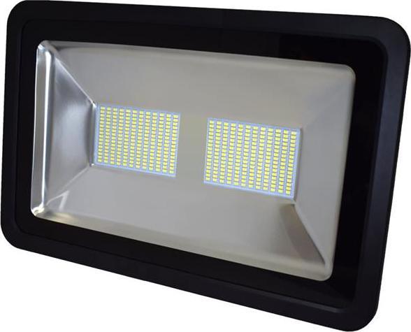 Schwarz LED reflektor 200W SMD Kaltweiß
