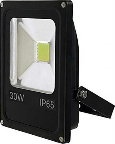 Schwarz LED Strahler 30W Tageslicht