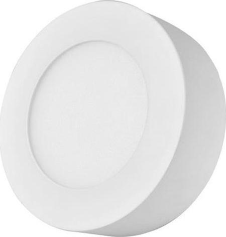 Biely kruhový prisadený LED panel 120mm 6W denná biela
