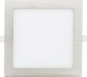 Matter chrom eingebauter LED panel 90 x 90mm 3W Warmweiß