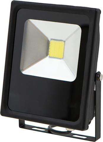 Čierný LED reflektor daisy 20W studená biela