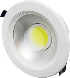 Weißes LED Einbaustrahler mcob lyra 20W Kaltweiß