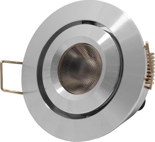 Metall LED Einbaustrahler Kippen 3W Kaltweiß