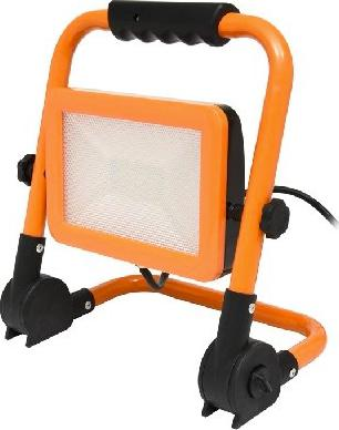 Oranžový LED reflektor se stojanom 30W denná biela
