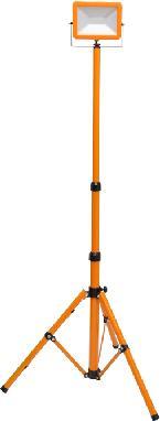Oranžový LED reflektor s teleskopickým stojanom 30W denná biela