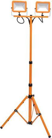 Orange LED reflektor mit Teleskopstativ 2 x 30W Tageslicht