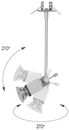 Silber reflektor 10W Borgo Gipskartonplatten 10cm GU10 Warmweiß