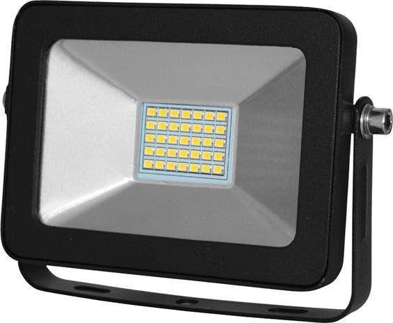 Čierný LED reflektor RB 15W studená biela