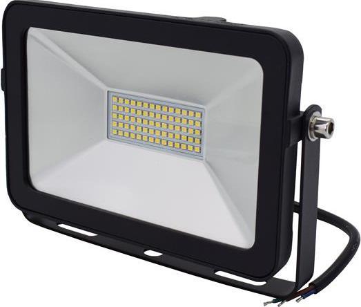 Čierný LED reflektor RB 30W denná biela