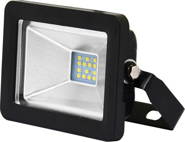 Čierný LED reflektor 10W city 5000K denná biela