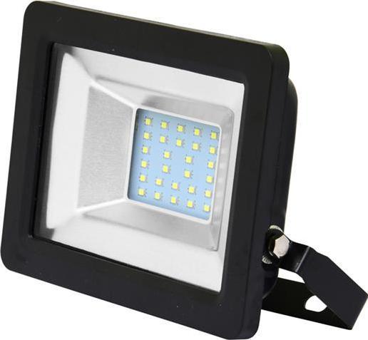 Čierný LED reflektor 20W city 5000K denná biela