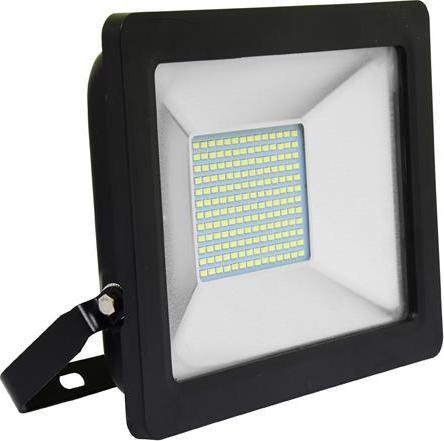 Schwarz LED reflektor 50W city 5000K Tageslicht