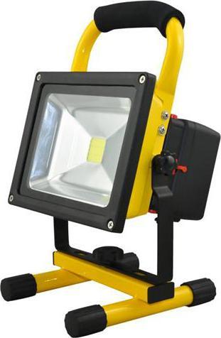 LED reflektor 20W s baterií gary aku denná biela
