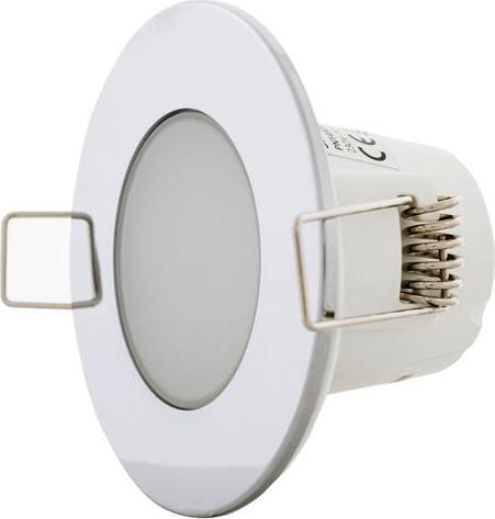 Chrom vestavné podhledové LED svietidlo 5W teplá biela