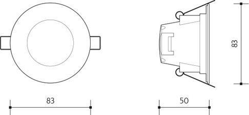 Chrom eingebaut Decke LED Leuchte 5W Warmweiß