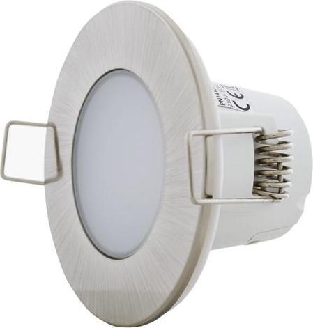 Brúsený chrom vestavné podhledové LED svietidlo 5W teplá biela