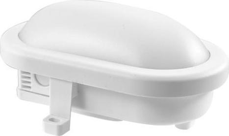 Weiße oval LED Wandleuchte 12W 12/24V torto Tageslicht