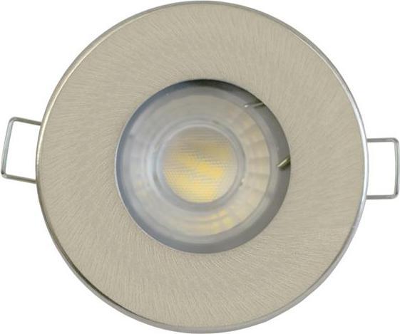 Nickel LED Deckeneinbau 5W Warmweiß IP44 230V