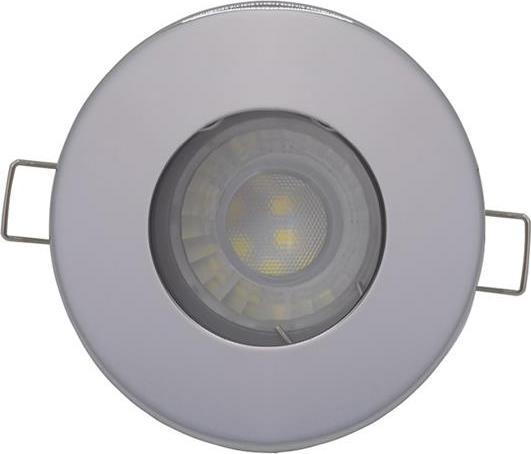 Chrom eingebaut Decke LED Leuchte 7,5W Warmweiß IP44 230V
