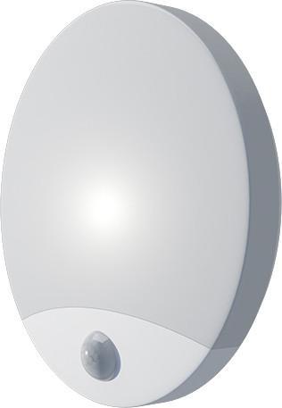Biele LED venkovné nástenné svietidlo 10W biele s PIR čidlem olga denná biela