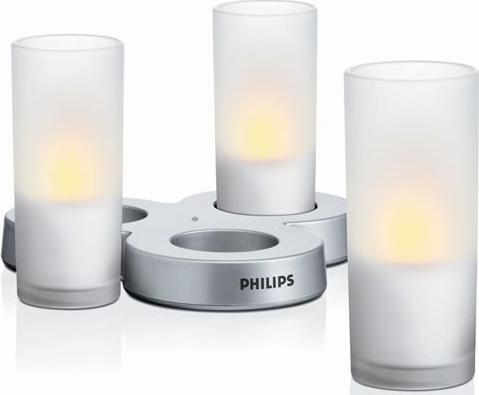 Philips LED candlelight Leuchte dekorativ set 3ks weiß 69108/60/PH