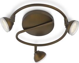 Philips LED toscane Leuchte Stelle bronz 3x3w 53249/06/16
