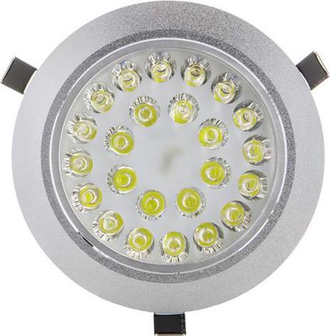 LED bodové svietidlo 24x 1W biela