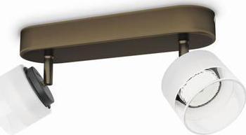 Philips LED fremont Leuchte Stelle bronz 2x4w 53332/06/16