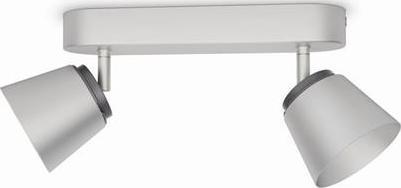 Philips LED dender lampe spot chrom 2x4w 53342/17/16