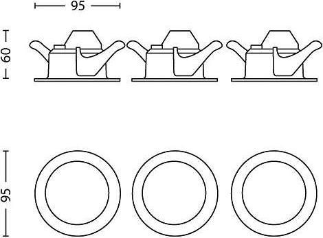 Philips LED sceptrum svietidlo zápustné lesklý chrom 3w 59101/11/16