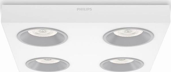Philips LED quine lampe decken 4x4,5w selv 31214/31/16