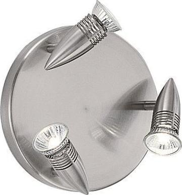 Ideal lux LED alfa pl3 nickel závěsné svietidlo 3x5W 9452