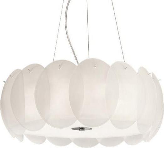 Ideal lux LED ovalino sp8 bianco závěsné svietidlo 8x5W 90481